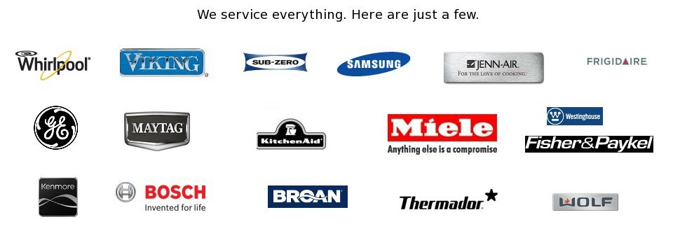 Brands we service for Home Appliances